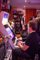 Playing arcade at Retro Rumble 2016